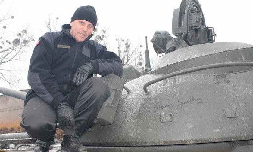 czołg autograf  steven spielberg