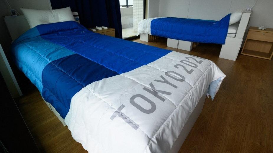Łóżka z kartonu na olimpiadzie w Tokio