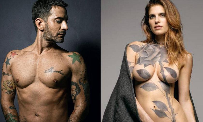marc jacobs i lake bell pokazują tatuaże