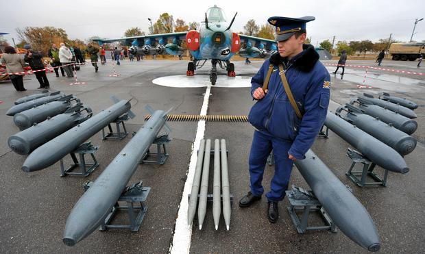 Część uzbrojenia, którą Su-25 może przenosić