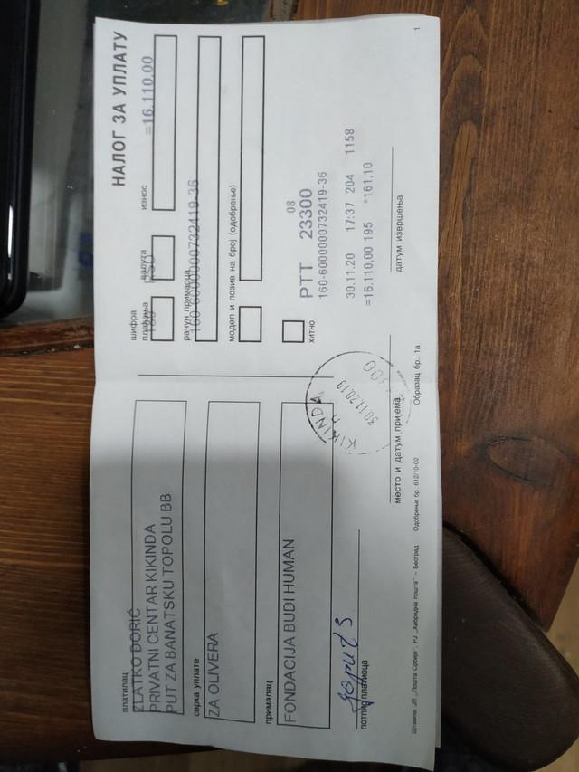 Novčana pomoć za teško bolesnu srpsku decu koju su sakupili migranti iz prihvatnog centra u Kikindi