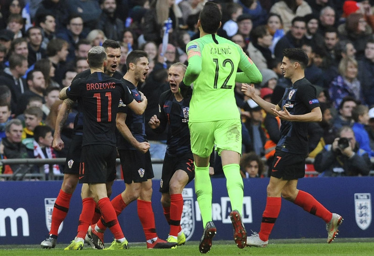 Fudbalska reprezenetacija Hrvatske, Fudbalska reprezentacija Engleske
