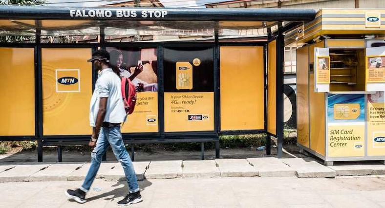 MTN Nigeria signpost in Lagos (Biznews)