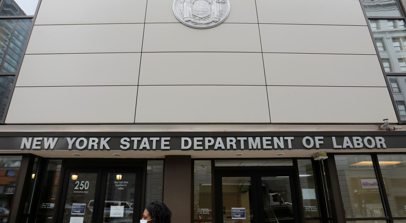 The New York State unemployment office typically gets 50,000 calls a week. Last week, it got almost 8 million.