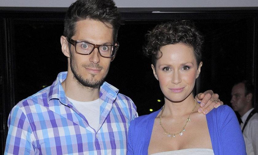 Monika Mrozowska z mężem