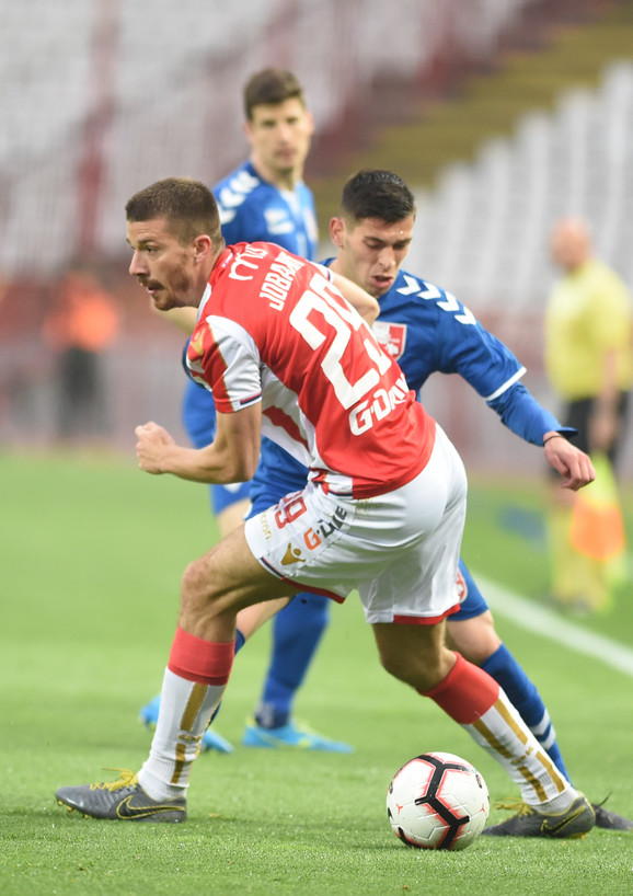 Dušan Jovančić na utakmici protiv Radničkog