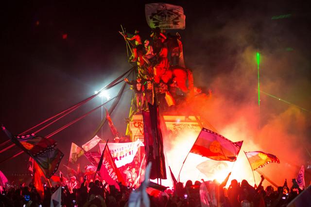 Proslava prvih rezultata referenduma u nedelju u Santjagu