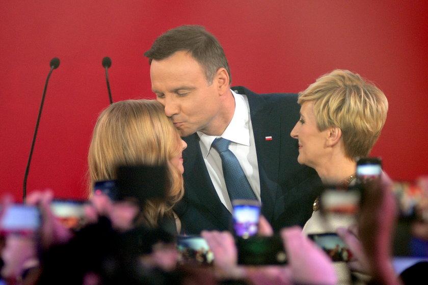 Kinga Duda i jej ojciec prezydent elekt Andrzej Duda.