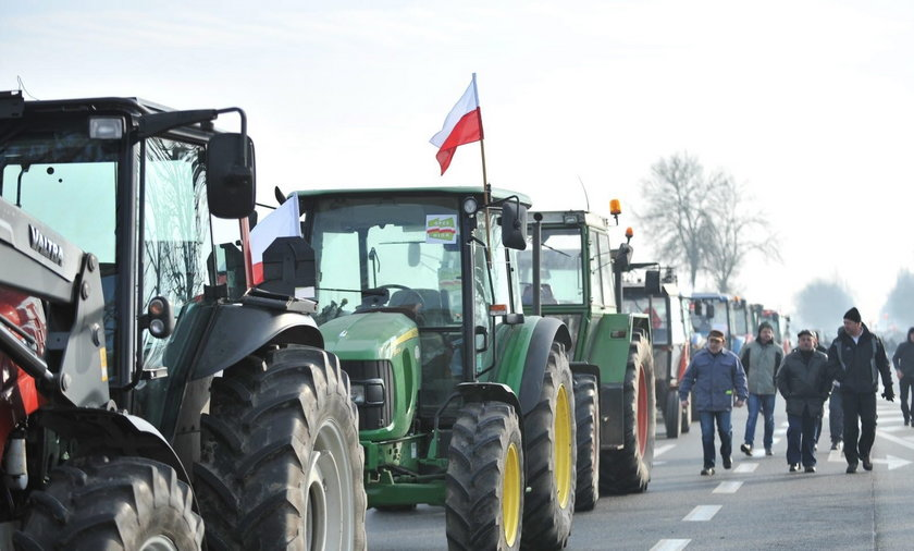 Protest Rolników.