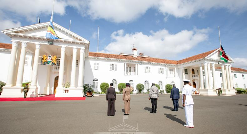 File image of President Uhuru Kenyatta outside State house, Nairobi