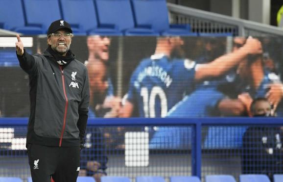 Jirgen Klop na meču Everton - Liverpul