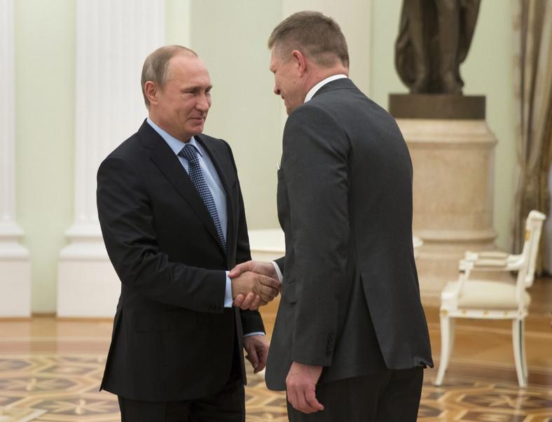 Władimir Putin i Robert Fico