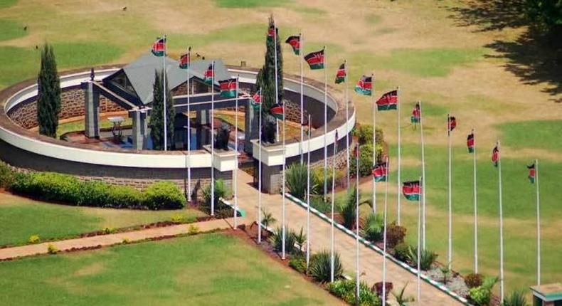 Mzee Jomo Kenyatta's mausoleum along Parliament Road. His body was exhumed 3 months after burial - Lt Gen (Rtd) Daniel Opande writes in his book