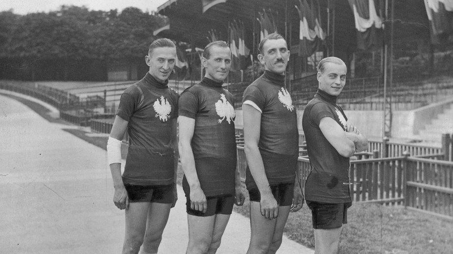 Od lewej: Tomasz Stankiewicz, Jan Łazarski, Franciszek Szymczyk, Józef Lange.