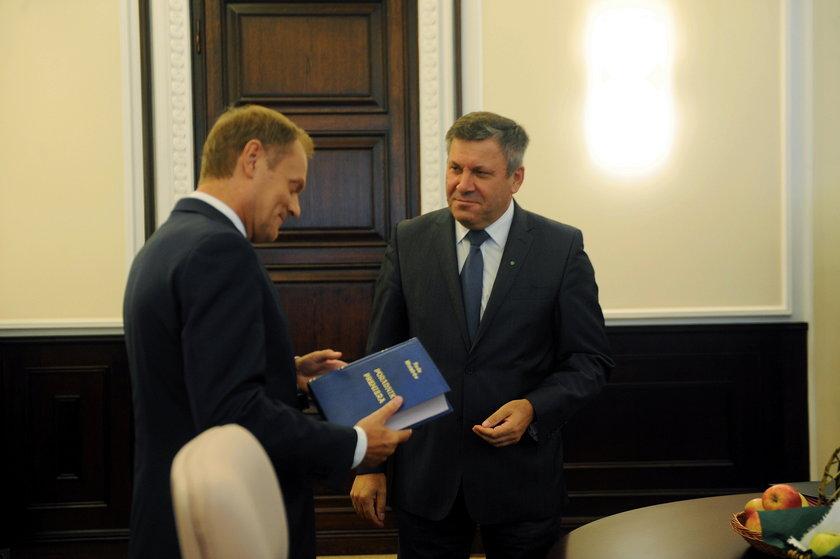 Donald Tusk, premier i jego zastępca wicepremier Janusz Piechociński.