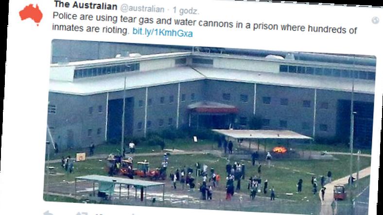 Zamieszki w australijskim więzieniu