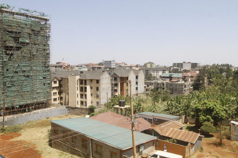 Building under construction in Ruaka, Nairobi. (The Standard)