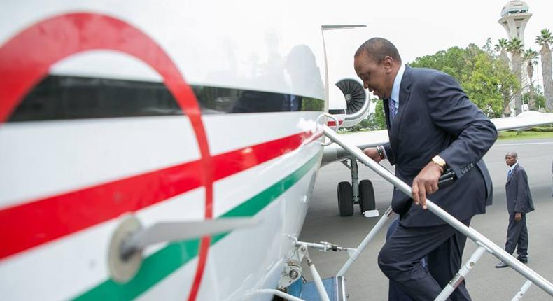 President Uhuru  Kenyatta quietly leaves the country for Saudi Arabia, 72 hours after return from Russia