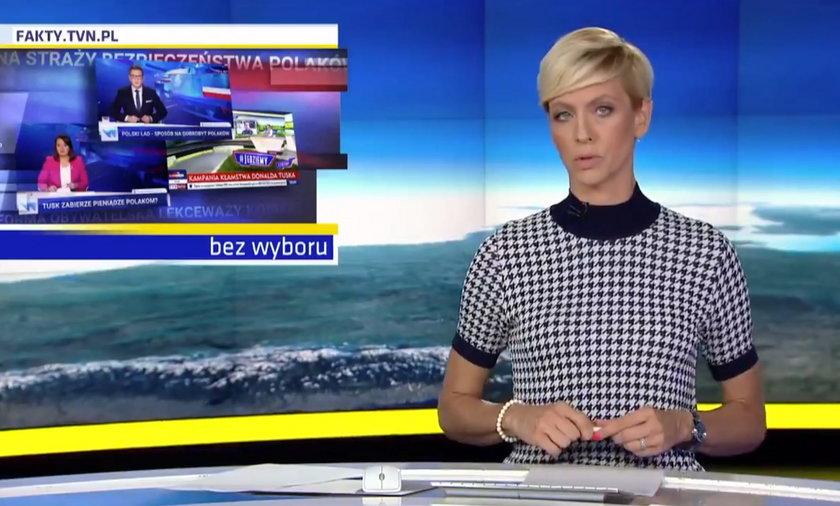 """""""Fakty"""" TVN pokazały, jak telewizja publiczna chwali rząd i krytykuje Donalda Tuska."""