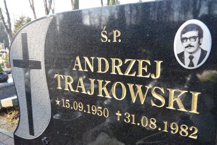 Grób śp. Andrzeja Trajkowskiego