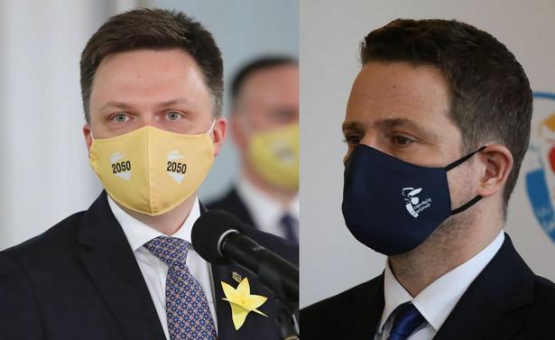 Szymon Hołownia i Rafał Trzaskowski