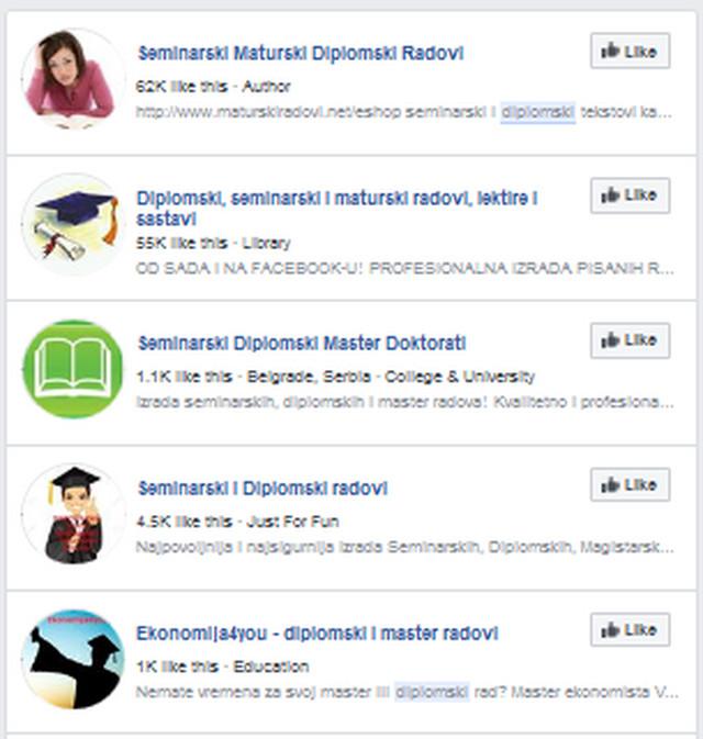 Pretraga na Fejsbuku nudi mnoge mogućnosti