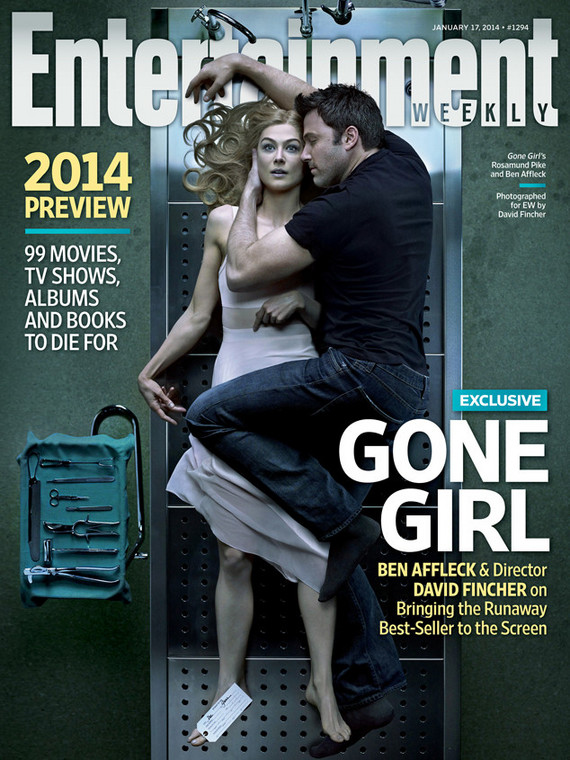 """Gone Girl"" na okładce ""Entertainment Weekly"""