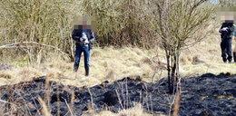 Makabryczne znalezisko! Rozczłonkowane ciało w spalonej trawie