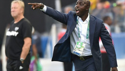 Samson Siasia was in charge of the Nigeria team during the 2016 Olympics in Rio