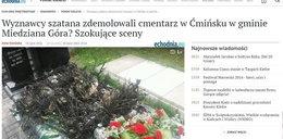 Bluźniercy zdemolowali cmentarz! Palili nagrobki, obalali krzyże