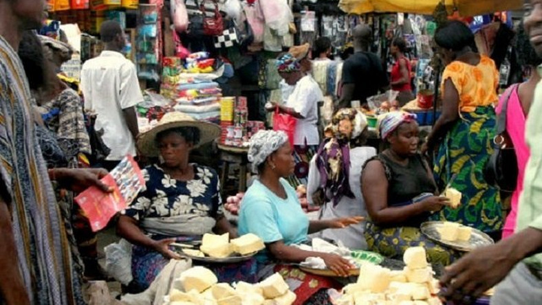 A typical Nigerian market used to illustrate the story