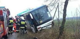Wypadek autobusu pod Garwolinem. W środku były dzieci!