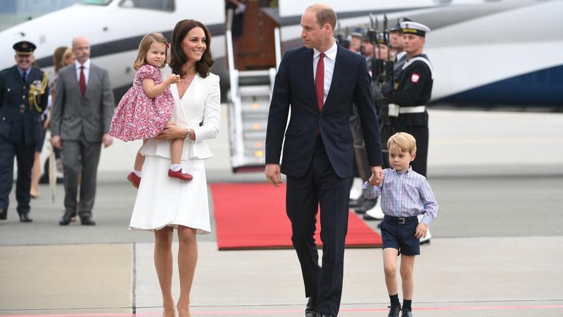Książę William i księżna Kate z dziećmi w Warszawie