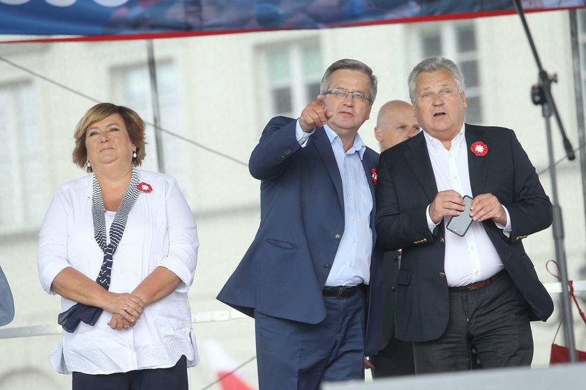 Anna Komorowska podczas kampanii prezydenckiej.