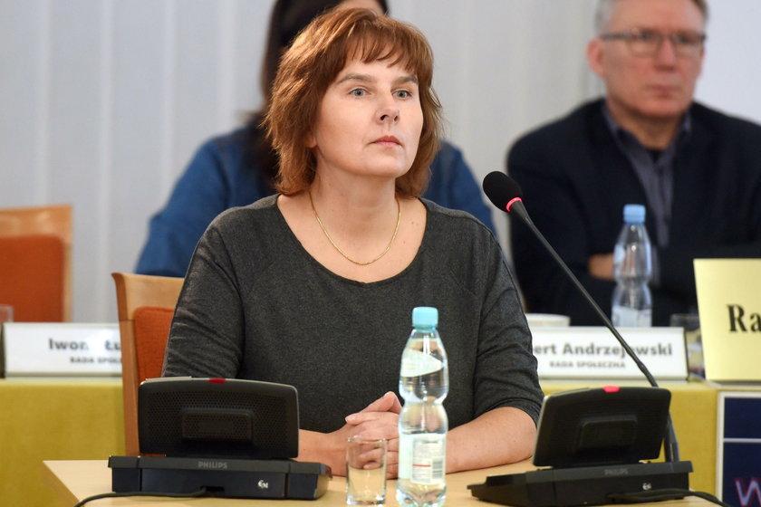 Magdalena Brzeska na posiedzeniu komisji reprywatyzacyjnej