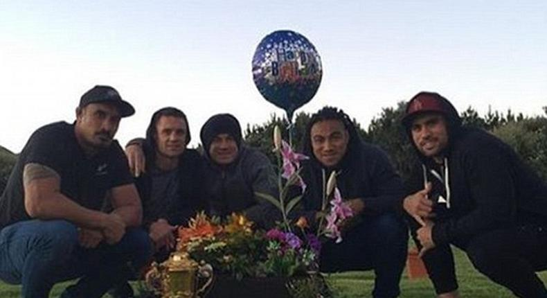 New Zealand World Cup winning squad visits graveside of lateJerry Collins
