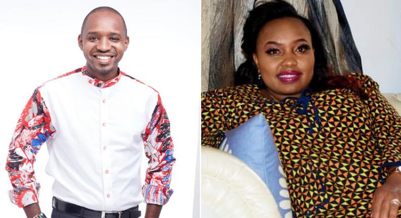 Activist Boniface Mwangi and nominated Senator Millicent Omanga