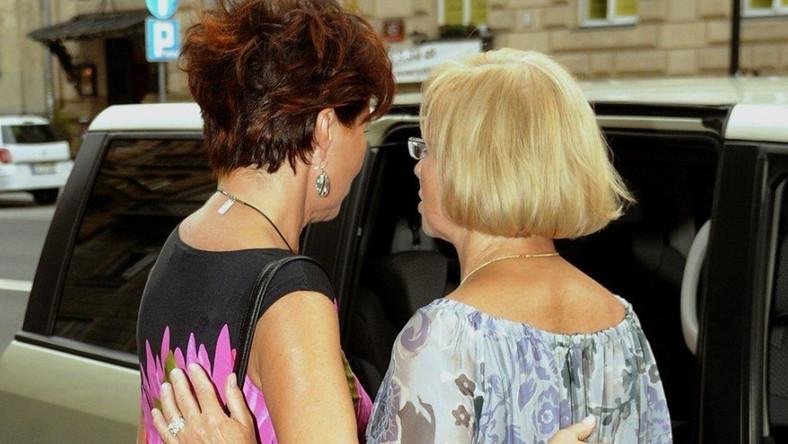 Metka przy naszyjniku Jolanty Kwaśniewskiej nie wyglądała elegancko.