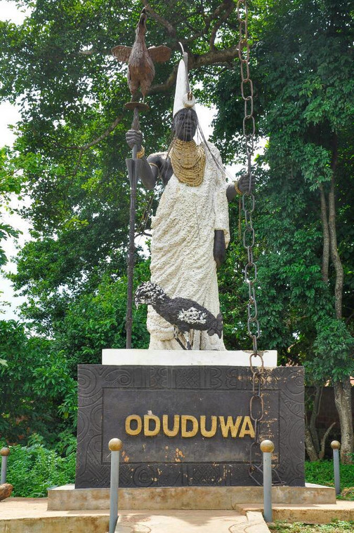 A statue of Oduduwa at the Oduduwa groove where it is believed he descended (Pejugold)