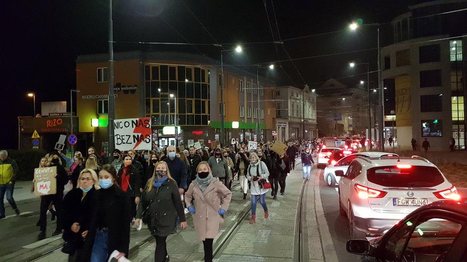 Protest na ulicach Gorzowa