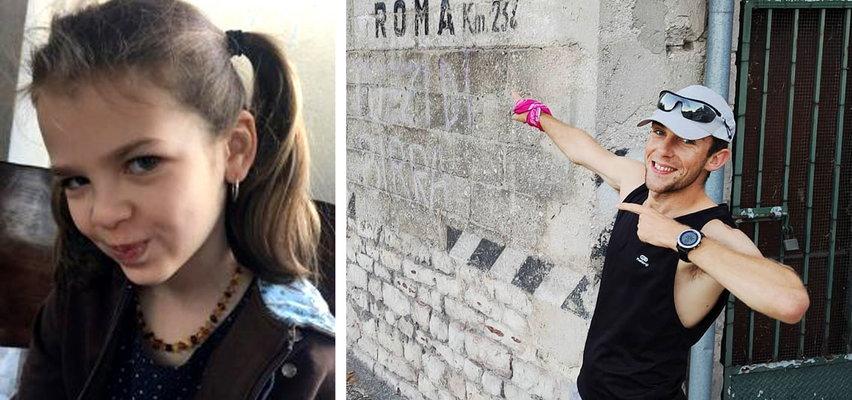 Niezwykły gest sportowca. Ponad miesiąc biegł do Rzymu, żeby pomóc 9-letniej Hani chorej na raka