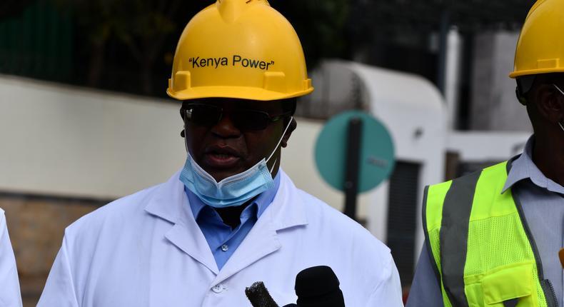 Kenya Power's Managing Director & CEO, Bernard Ngugi