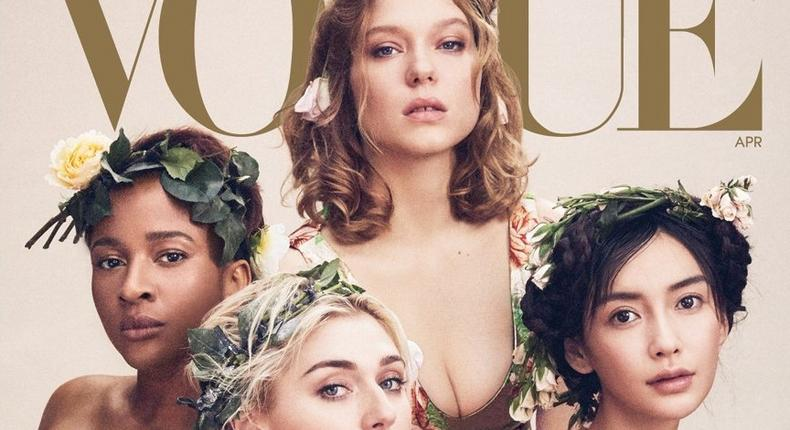 Adesua Etomi shares the global stage with top Hollywood and Bollywood actresses [Vogue Magazine]