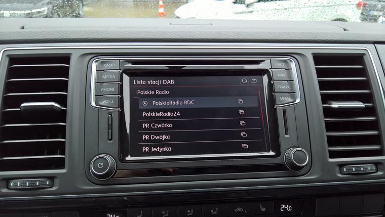 Lista stacji radiowych DAB+ w VW Discover Media Plus