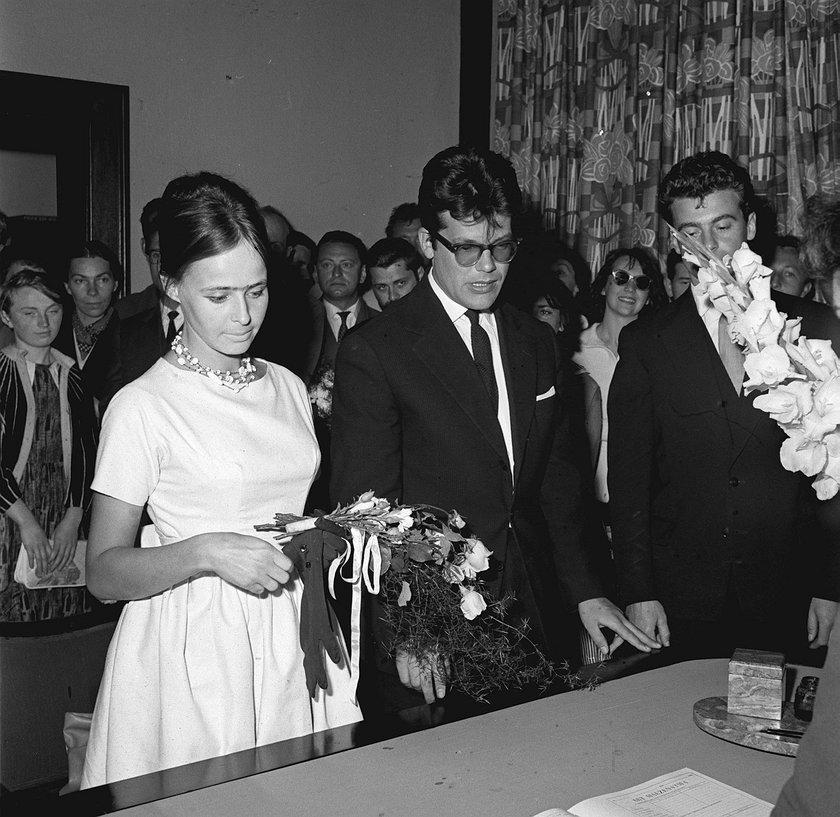 Ślub Elżbiety Chwalibóg i Zbyszka Cybulskiego