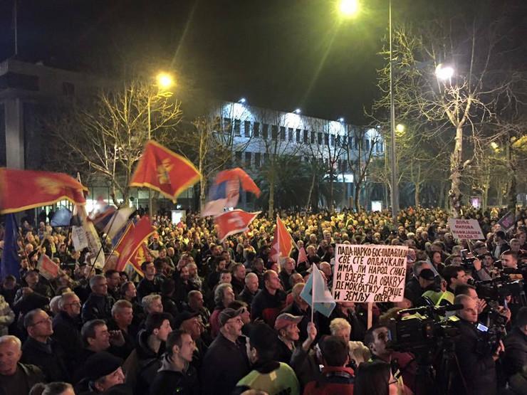 Podgorica protest foto Fejsbuk Sloboda traži ljude