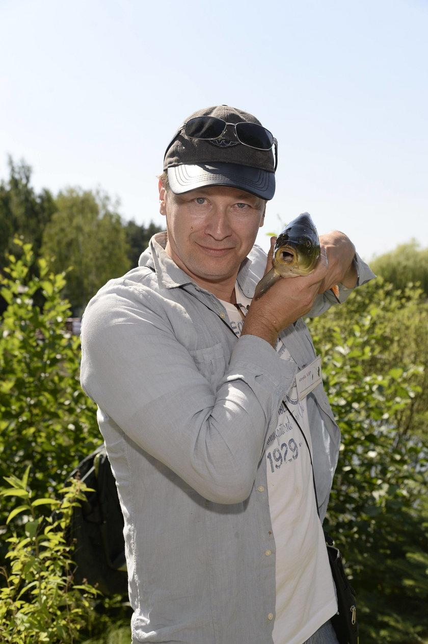 Wojciech Majchrzak na zawodach w łowieniu ryb