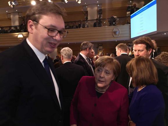 Vučić i Merkel danas u Minhenu