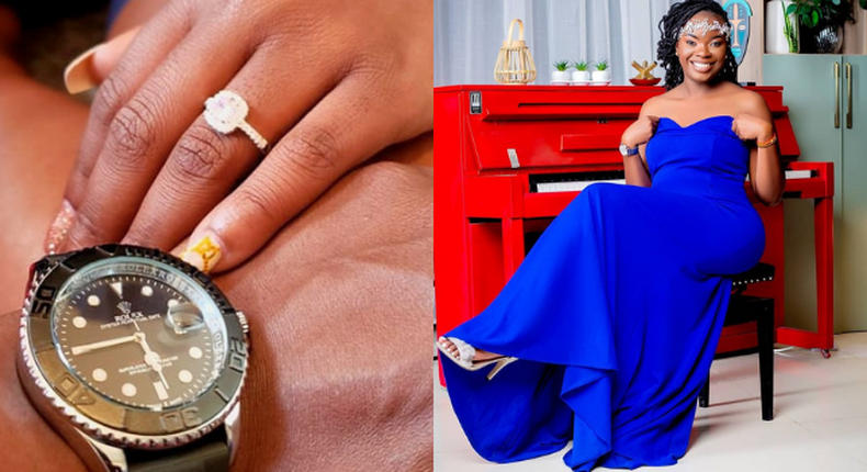 Bahati's Baby Mama Yvette Obura off the market as she flaunts her engagement (Photos)