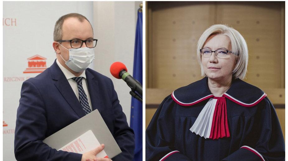 Adam Bodnar i Julia Przyłębska